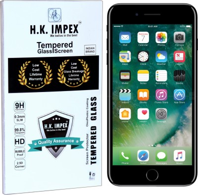 H.K.Impex Tempered Glass Guard for Apple iPhone 7(Pack of 1)