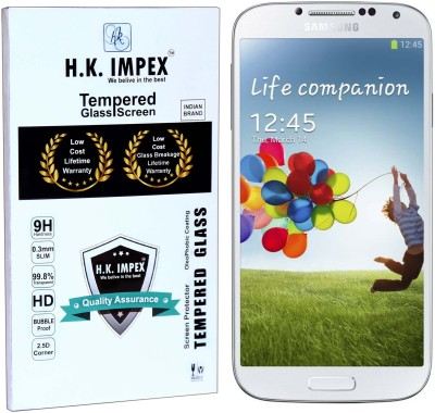 H.K.Impex Tempered Glass Guard for Samsung Galaxy S4,samsung galaxy s4 tempered glass in mobile screen guard (full display cover glass).(Pack of 1)