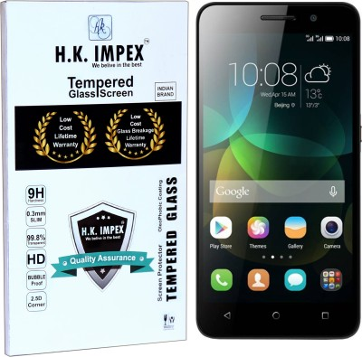 H.K.Impex Tempered Glass Guard for Honor holly 4C(5.0),honor holly 4c tempered glass in mobile screen guard (full display cover glass)(Pack of 1)