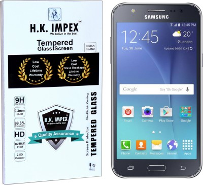 H.K.Impex Tempered Glass Guard for Samsung Galaxy J5,samsung galaxy j5 tempered glass in mobile screen guard (full body cover glass)(Pack of 1)