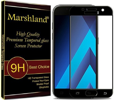 Marshland Tempered Glass Guard for Samsung Galaxy A7-2017, 2.5D Full Glue Tempered Glass, 9H Extreme Hardness, Bubble Free, Anti Scratch, Full Screen Protector(Pack of 1)