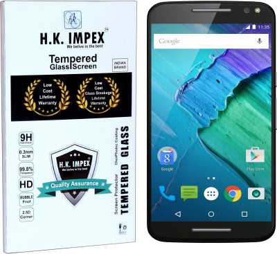 H.K.Impex Tempered Glass Guard for Motorola Moto X Syle ,motorola moto x style tempered glass in mobile screen guard (full display cover)(Pack of 1)