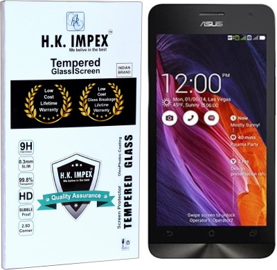 H.K.Impex Tempered Glass Guard for Asus Zenfone 5,asus zenfone 5 tempered glass in mobile screen guard (full display cover).(Pack of 1)