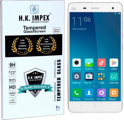 H.K.Impex Tempered Glass Guard for MI 4,mi4 tempered glass in mobile screen guard (full display cover).(Pack of 1)