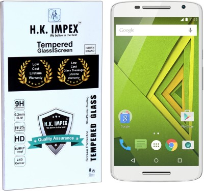 H.K.Impex Tempered Glass Guard for Motorola Moto X Play,motorola moto x play tempered glass in mobile screen guard(full body cover glass)(Pack of 1)