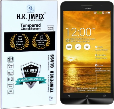 H.K.Impex Tempered Glass Guard for Asus Zenfone 6,asus zenfone 6 tempered glass in mobile screen guard (full body cover glass)