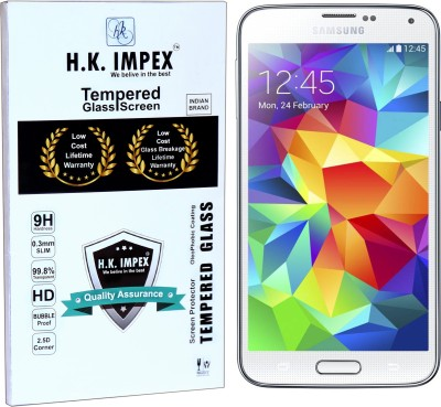 H.K.Impex Tempered Glass Guard for Samsung Galaxy S5,samsung galaxy s5 tempered glass in mobile screen guard (full display cover glass)