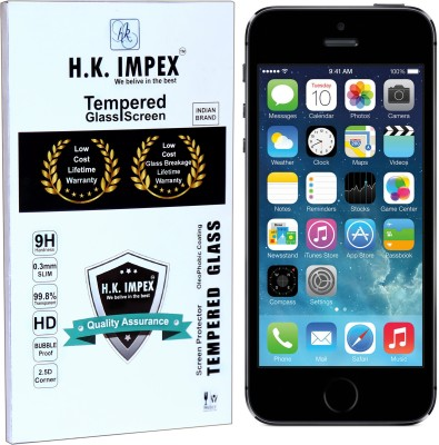 H.K.Impex Tempered Glass Guard for Apple iPhone 5s/SE,apple iphone 5s tempered glass in mobile screen guard (full body cover glass)(Pack of 1)