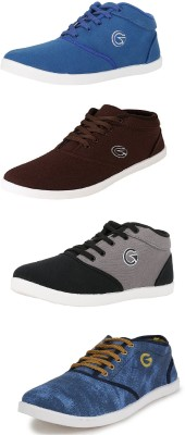 Globalite Globalite Casual Shoe Combo of Sneaker`s and Canvas Shoe for Men Canvas Shoes For Men(Multicolor)