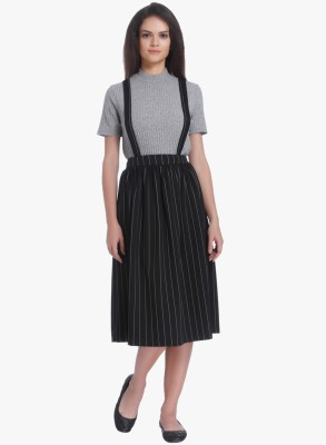 Only Striped Women A-line Skirt at flipkart
