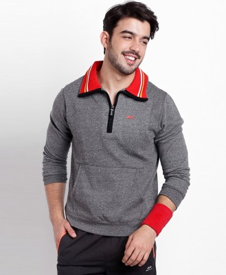 Spunk by fbb Full Sleeve Solid Men Sweatshirt at flipkart