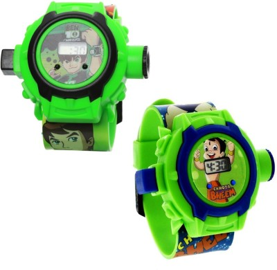 Fashion Gateway Ben10 and Chota Bheem Digital Projector kids watch_201 (Best for Brithday gift and kids gift) Watch  - For Boys & Girls