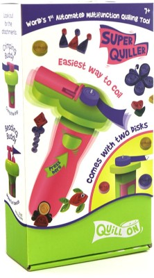 Quill On QUILL ON-SUPER QUILLER Automated Multifunction Quilling Tool- Pink