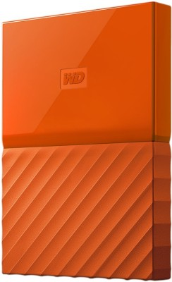 WD My Passport 2 TB Wired External Hard Disk Drive(Orange)