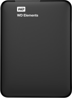 WD Elements 4 TB Wired External Hard Disk Drive(Black)
