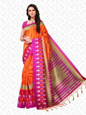 Divastri Striped, Printed Daily Wear Poly Silk Saree