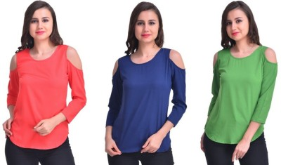 Stop Look Casual 3/4th Sleeve Solid Women