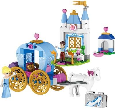 Akrobo Happy Princess House 122 pcs Self Assembling Toy bricks/blocks Set Multicolor Akrobo Blocks   Building Sets