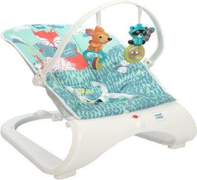 MeeMee Easy To Bounce & Vibrating Deluxe Baby Bouncer Non-electric Bouncer(Blue)