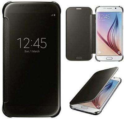 Sajni Creations Flip Cover for Samsung Galaxy S7 Edge Black Sajni Creations Plain Cases   Covers