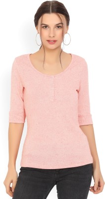 Vero Moda Casual 3/4th Sleeve Self Design Women