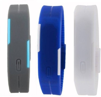 perfectretail A 001 Led Magnet Band (pack of 3) Red, Blue, Orange Watch  - For Boys & Girls
