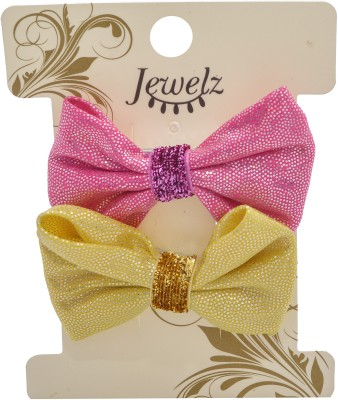 Jewelz Pack Of Two Gold And Pink Tic Tac Hair Clips Hair Clip(Multicolor) Flipkart