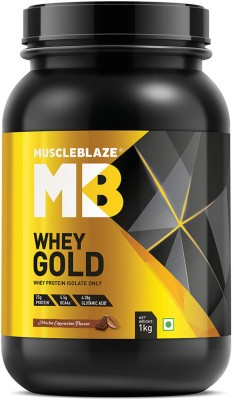 MuscleBlaze Whey Gold 100% Whey Isolate Whey Protein(1 kg, Mocha Cappuccino)