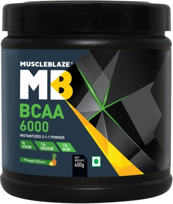 MuscleBlaze Instantized BCAA Powder 6000 Amino Acid supplement BCAA(400 g, Pineapple)