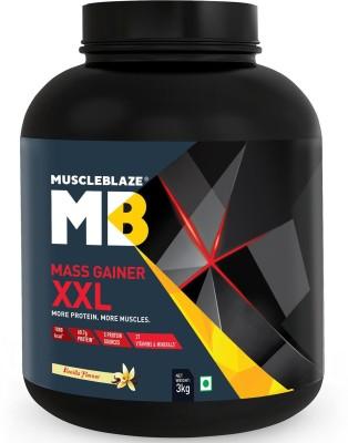 MuscleBlaze Super Gainer XXL Weight Gainers/Mass Gainers(1 kg, Cookies & Cream)