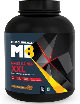MuscleBlaze Mass Gainer XXL Weight Gainers/Mass Gainers(1 kg, Cafe Mocha)