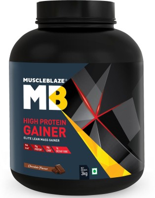 MuscleBlaze High Protein Elite Lean Weight Gainers/Mass Gainers(3 kg, Chocolate)