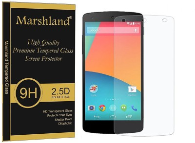 Marshland Tempered Glass Guard for LG Nexus 5, Full Screen Clear 2.5D 9H HD Clarity Fingerprint & Scratch Protection(Pack of 1)