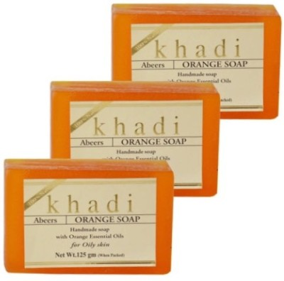 khadi abeers Orange Soap(3 x 125 g)