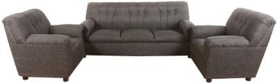 Bharat Lifestyle Quatra Fabric 3 + 1 + 1 Red & Black Sofa Set