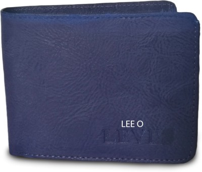 LEE O Men Blue Artificial Leather Wallet(5 Card Slots)