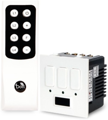 Dott Systems Dott Systems Remote Control Switch Modular 3 Lights 5 One Way Electrical Switch(Pack of 2 Number of Switches - 3)