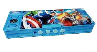 Art Box password Avengers password protected pencil Box for boy kids Art Plastic Pencil Box(Set of 1, Blue)