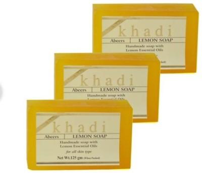 khadi abeers Lemon soap(3 x 125 g)