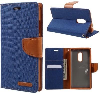 Gohaps Flip Cover for Vivo V3(Blue, Artificial Leather)