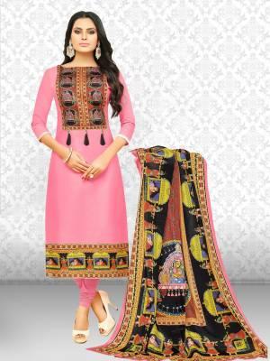 Divastri Cotton Blend Printed Salwar Suit Material