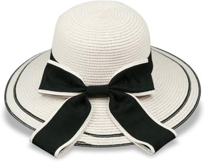 Tahiro White Polyester Hat(White, Pack of 1)