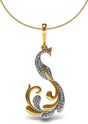 Vannajewels Peacock 14kt Diamond Yellow Gold Pendant