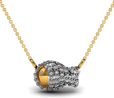 Vannajewels Fish 14kt Diamond Yellow Gold Pendant