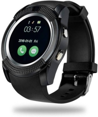 CELESTECH CST 08 with SIM card, 32GB memory card slot, Bluetooth and Fitness Tracker Smartwatch(Black Strap 10)