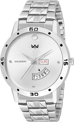 Solomon Ca 02 sio 03 Fas 02 tracker 03 AD Diamond Studded Dail Watch  - For Men