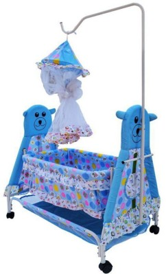 Shishu.Online SHISHU.ONLINE Baby Bassinet With Long Mosquito Net(Blue)