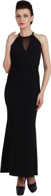 G & M Collections Women Maxi Black Dress