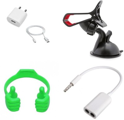 Mudshi Wall Charger Accessory Combo for Redmi Note 4 Multicolor