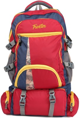 Frontier Premium Light Weight Heavy Duty Travel Backpack Rucksack  - 60 L(Red)